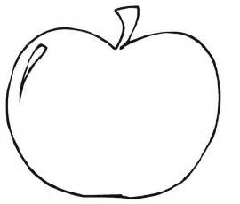 template of printable apple template clipart best