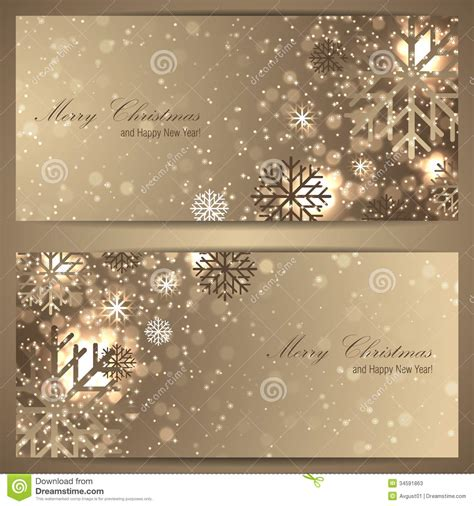 design banner elegant set of elegant christmas banners with snowflakes stock