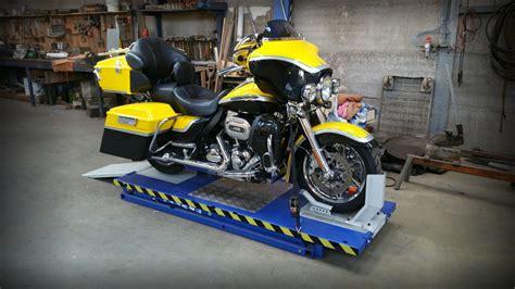 Motorradhebeb Hne Bike Lift Racing 350 harley davidson werkstatt motorrad bild idee