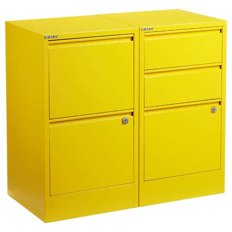 Yellow Metal Filing Cabinet Yellow Bisley 174 2 3 Drawer File Cabinets The Container Store