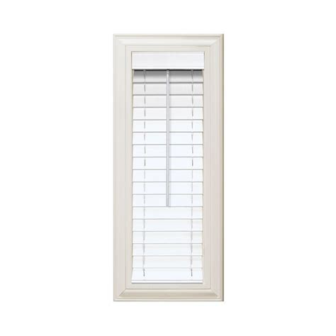 home decorators faux wood blinds home decorators collection white 2 1 2 in premium faux