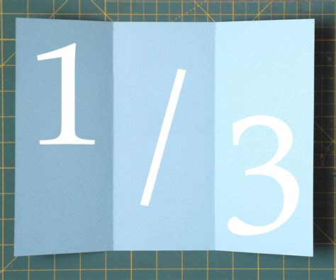 How To Fold A Paper Into 3 Equal Parts - folding paper into thirds 3