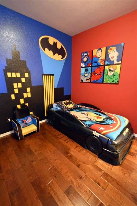 superheroes bedroom super hero wall ideas for kids crafty morning
