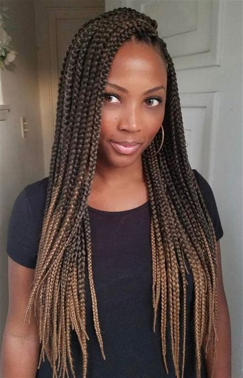 ombre crochet hairstyles 60 totally chic and colorful box braids hairstyles to wear