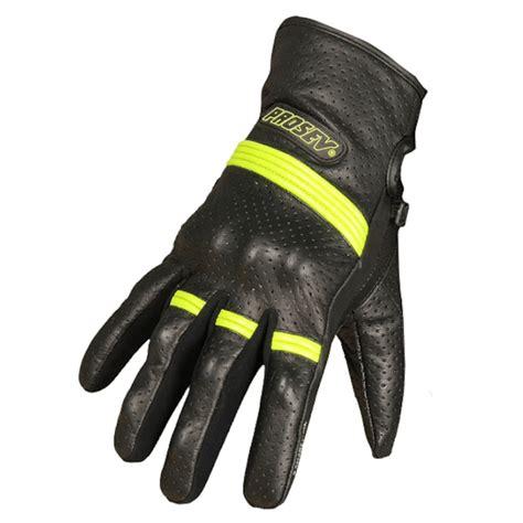prosev  siyah neon deri motosiklet eldiveni fiyat