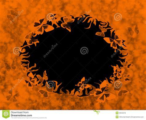orange  black grunge border stock illustration image