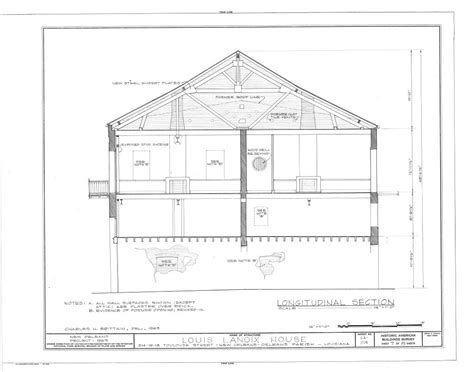 Longitudinal Section Surveying by The Collins C Diboll Vieux Carr 233 Survey Property Info