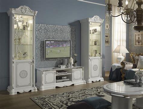 babyzimmer modern 2516 vitrine 4 trg great weiss silber italienisch klassisch