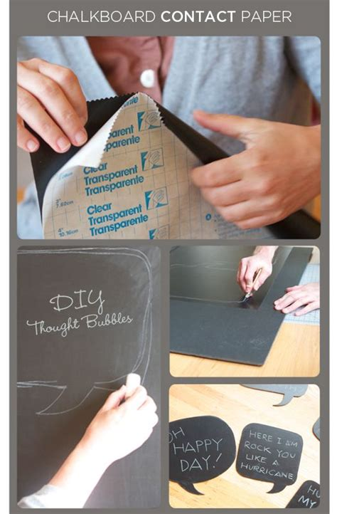 diy chalkboard thought 15 best images about contact paper projects on