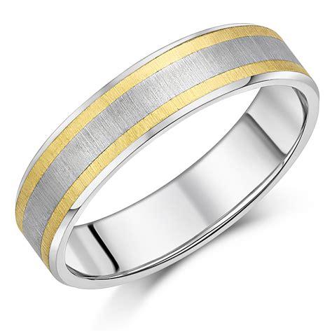 Titanium Ring Wedding Band by 6mm Titanium Gold Wedding Ring Band Titanium Rings At