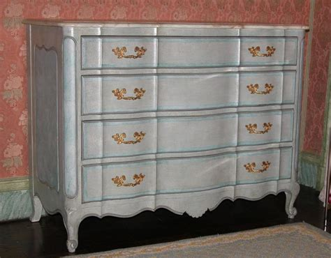dresser 6 drawer chest antiqued finish faux marble top bedroom louis xv style chest drawers in blue painted finish with