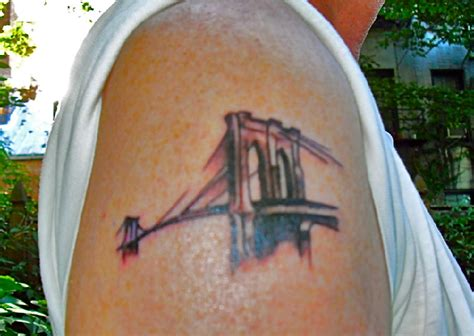 brooklyn bridge tattoo suerte inks nabeguy with bridge