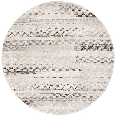 Grey Circle Rug by Safavieh Retro Grey 6 Ft X 6 Ft Area Rug