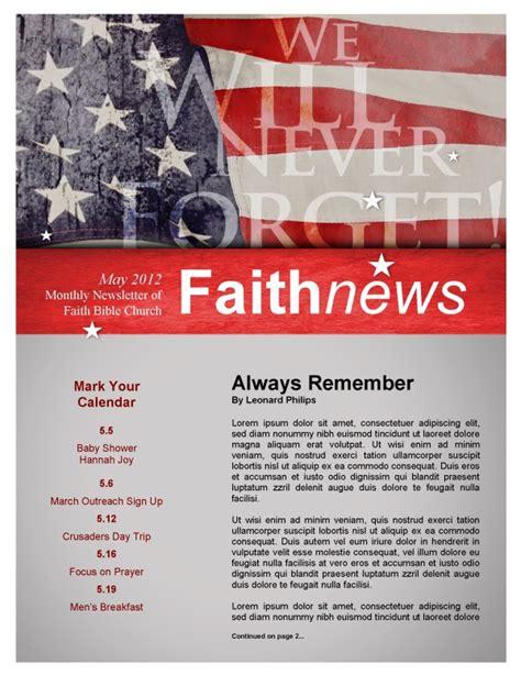 Memorial Day Flag Bulletin Secular Holiday Bulletin Covers Memorial Bulletin Templates