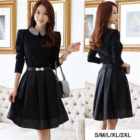 Dress Korea Black find more information about drop shipping korean autumn