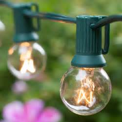Patio Globe Lights Patio Lights Commercial Clear Globe String Lights 20 G30 E12 Bulbs Green Wire