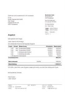 Angebot Pauschalpreis Muster Muster Angebot Erstellt Mit Dem Programm Hth Rechnungen