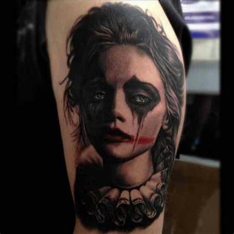girl joker tattoo designs sad girl clown tat tat tatted up pinterest