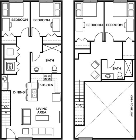 2 bedroom town home westwood apartments floor plans hton newport news va affordable 2 4 bed 2 bath townhome lofts54 student housing