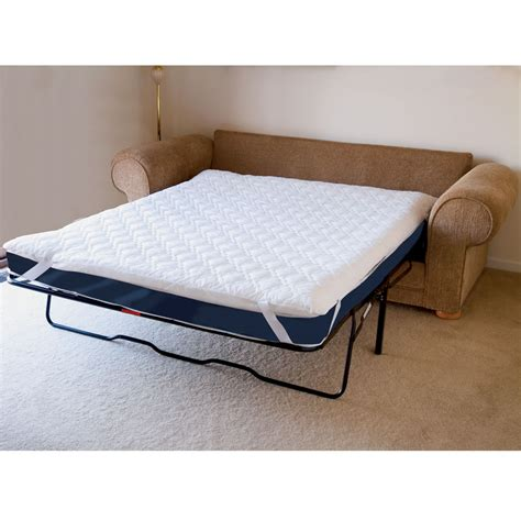 sofa bed mattress pad the memory foam sofabed mattress pad hammacher