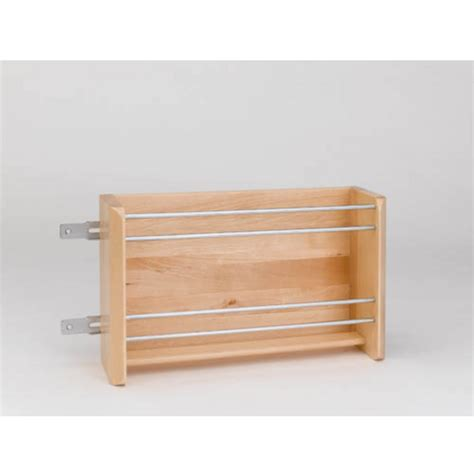 Kitchen Cabinet Rails Vertical Foil Rack For Kitchen Cabinets Maple With Chrome Rails By Rev A Shelf
