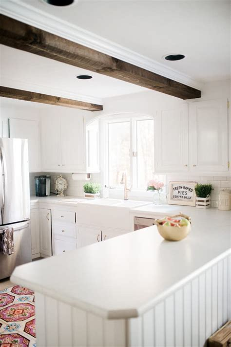 White Kitchen Canisters farmhouse kitchen makeover