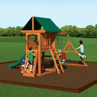 Backyard Wood Swing Set Play All Day With Kmart Backyard Discovery Somerset Wood Swing Set