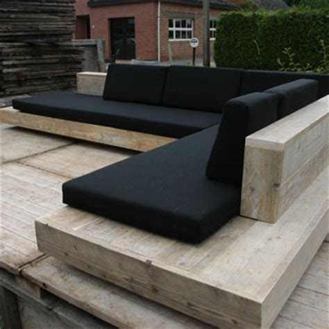 sofa sitzecke timber seating with black cushions a beautiful and