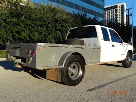 buy used good running 1994 chevrolet 3500 ext cab gas dually flat bed low miles clean in