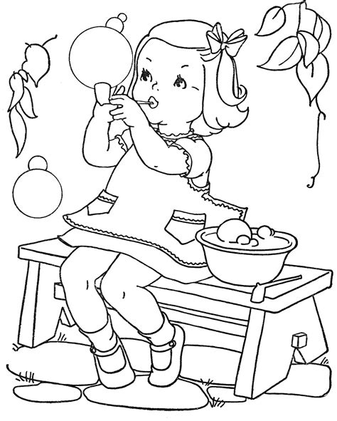 vintage baby coloring pages favorite paint book little girls q is for quilter
