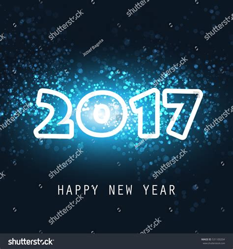 New Year Card Template 2017 by New Year Card Cover Or Background Template 2017 Stock