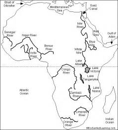 outline map labeled rivers enchantedlearning