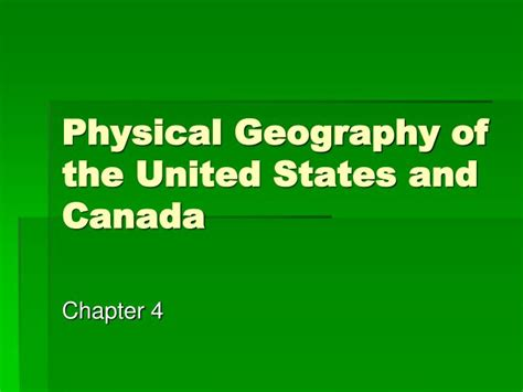 Physical Geography Of The United States And Canada Worksheet Answers