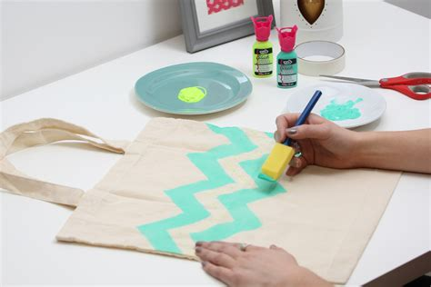Craft Ideas For Home Decor Pinterest How To Fabric Paint A Tote Bag Hobbycraft Blog
