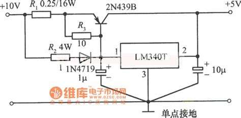 integrated circuit ic voltage regulators 5v 5a regulated power supply circuit diagram composed of lm340t integrated voltage regulator