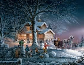 Winter Holiday Crafts - winter wonderland boxed christmas cards redlin art center