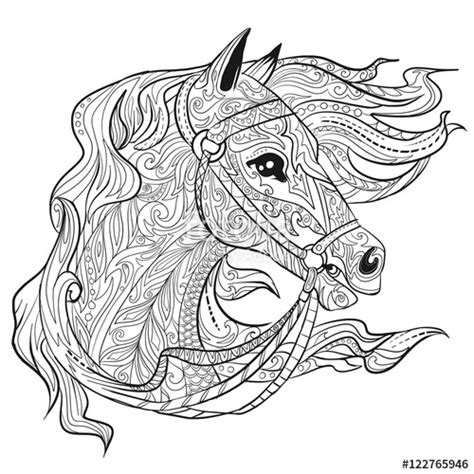 zentangle horse coloring page zentangle horse head coloring page coloring pages