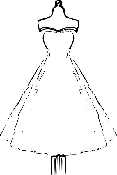 vintage dress coloring page dress clip art at clker com vector clip art online