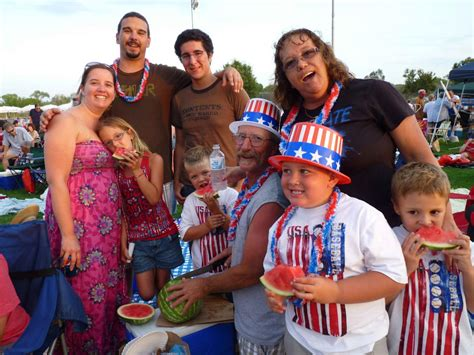12 Families And Couples Celebrating The 4th by Family At Santee Salutes 4th Of July Celebration