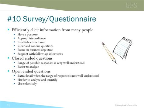 software requirements questionnaire template image