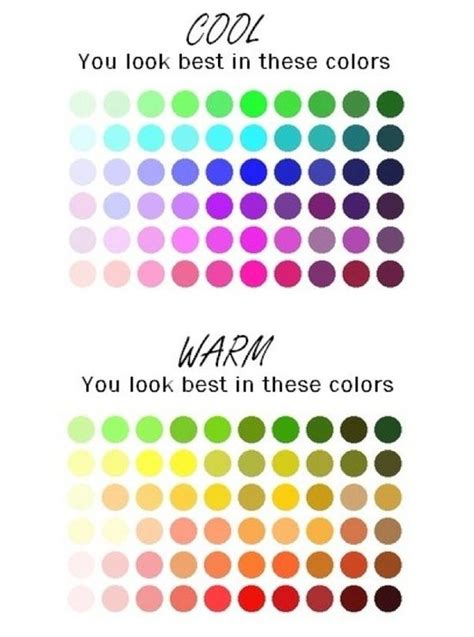 what are cool colors colors for warm and cool skin tones ideas