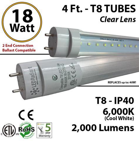 8 foot t8 l wattage 4 foot led tube light 18 watt t8 2000 lm 6000k clear