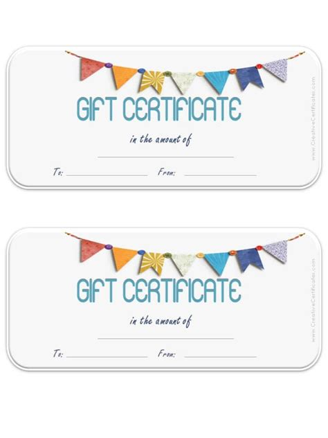 template of gift certificate free gift certificate template customize and