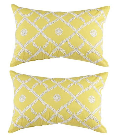 yellow patterned cushions the lavish homes yellow floral cushion cover set of 2