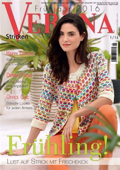knitting magazine verena stricken fr 252 hjahr 2016 knitting