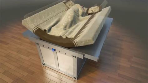 earthquake bed アクロバティックな防御方法で地震から人を守ることに特化した耐震ベッド gigazine
