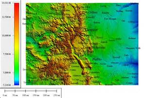 colorado map elevation topocreator create and print your own color shaded