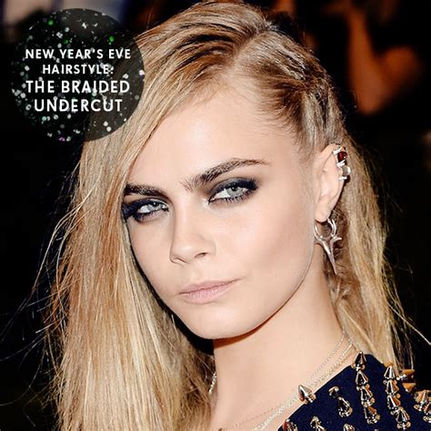 hairstyles for short hair new years eve new year s eve hairstyle the braided undercut hair