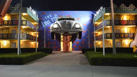 sections of disney world all star movies resort herbie the love bug section at walt