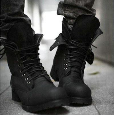 fashion mens black boots shoes prlog